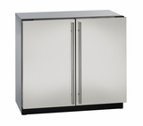 "3036RRS00B U-Line Modular 3000 Series 36"" Solid Double Door Refrigerator - Stainless Steel"