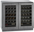 "3036WCWCINT00B U-Line 3000 Modular Series 36"" Wine Captain with Independently Controlled Dual Zones - Double Doors - Integrated Frame Custom Panel"