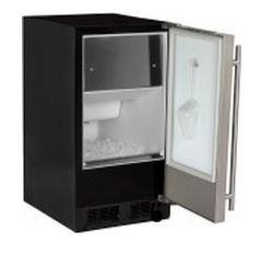 "30iMATBBOLP Marvel 15"" ADA Clear Ice Machine (Left Hinge) with Factory-Installed Drain Pump - Custom Panel"