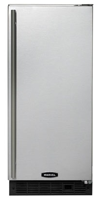 "30iMATBSFLP Marvel 15"" ADA Clear Ice Machine (Left Hinge) with Drain Pump - Stainless Steel"