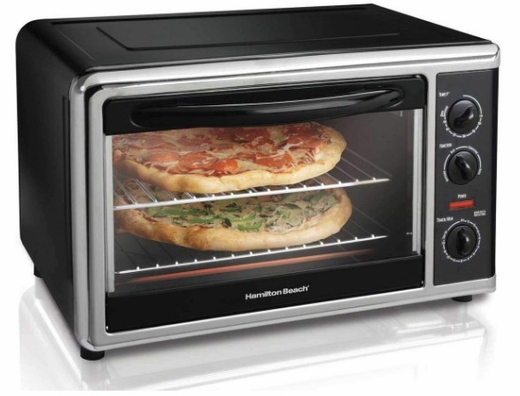 31100 Hamilton Beach Countertop Oven with Convection and Rotisserie - Stainless Steel