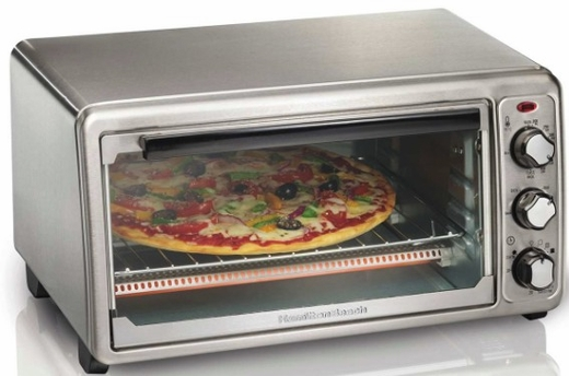 31411 Hamilton Beach 6 Slice Toaster Oven with Bake Pan and Slide-Out Crumb Tray - Stainless Steel