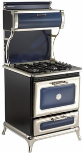 "4210CDCBL Heartland 30"" Classic Dual Fuel Range for LP or NG with 4 Cu. Ft Convection Oven - Cobalt"