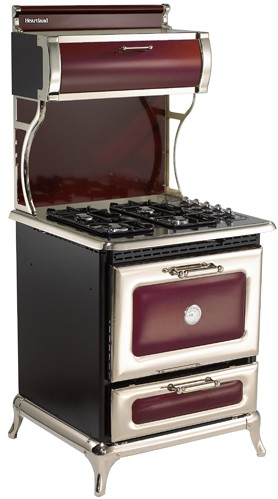 "4210CDGCRN Heartland 30"" Classic Dual Fuel Range for LP or NG with 4 Cu. Ft Convection Oven - Cranberry"
