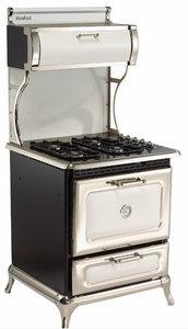 """4210CDGWHT Heartland 30"""" Classic Dual Fuel Range for LP or NG with 4 Cu. Ft Convection Oven - White"""