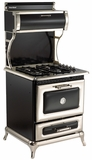 """4210CDGBLK Heartland 30"""" Dual Fuel Range with Self-Cleaning Electric Convection Oven and 4 Burner Natural Gas Cooktop - Black"""