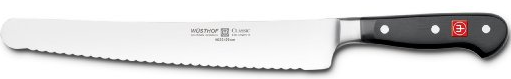 "4532-7 Wusthof 10"" Black Classic Super Slicing Knife"