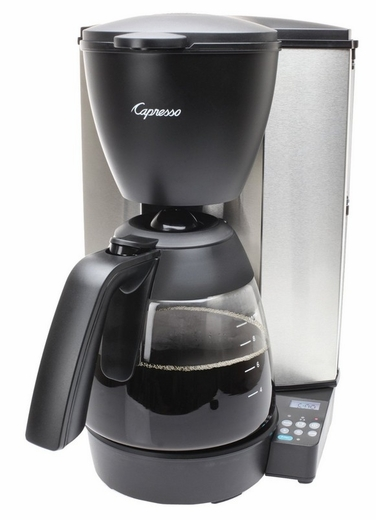 484.05 Capresso MG600 Plus 10-Cup Programmable Coffee Maker with Glass Carafe