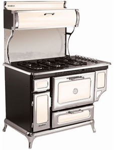 "5210CDGIVY Heartland 48"" Classic Dual Fuel Range with Electric Convection  Oven - Ivory"