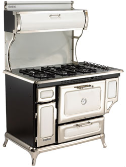 "5210CDGWHT Heartland 48"" Classic Dual Fuel Range with Electric Convection  Oven - White"