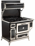 "5210CDGBLK Heartland 48"" Dual Fuel Range with Self-Cleaning Electric Convection Oven and 4 Burner Natural Gas Cooktop - Black"