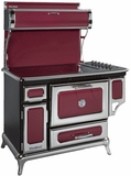 "6210CD0CRN Heartland 48"" Classic Electric Range with 5 High Performance Ribbon Burners - Cranberry"