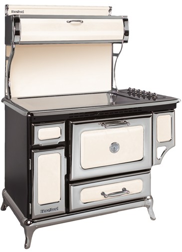 "6210CD0IVY Heartland 48"" Classic Electric Range with 5 High Performance Ribbon Burners - Ivory"