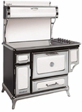 "6210CD0WHT Heartland 48"" Classic Electric Range with 5 High Performance Ribbon Burners - White"