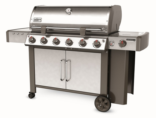 63004001 Weber Genesis 2 LX E-640 Outdoor Liquid Propane Grill with High Performance Burners and Infinity Ignition  - Stainless Steel