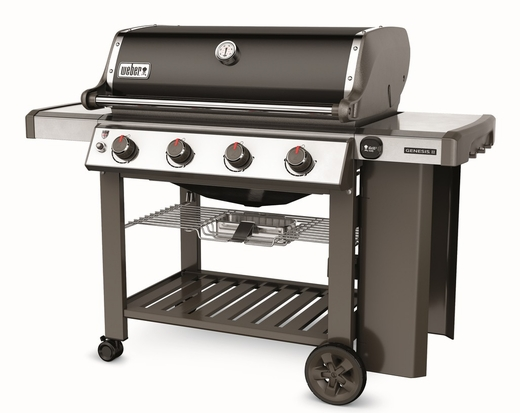 67010001 Weber Genesis 2 E-410 Outdoor Natural Gas Grill with 4 Stainless Steel Burners and Infinity Ignition  - Black