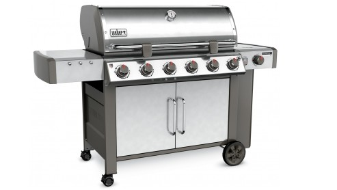 68004001 Weber Genesis 2 LX S-640 Outdoor Natural Gas Grill with High Performance Burners and Infinity Ignition  - Stainless Steel
