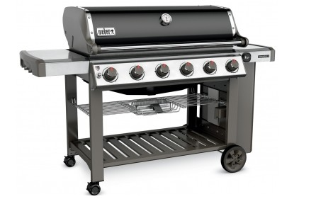 68010001 Weber Genesis 2 E-610 Outdoor Natural Gas Grill with 6 Stainless Steel Burners and Infinity Ignition  - Black