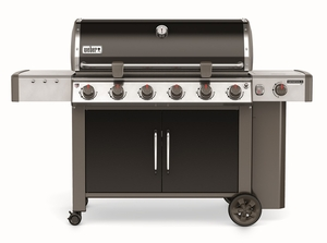 68014001 Weber Genesis 2 LX E-640 Outdoor Natural Gas Grill with High Performance Burners and Infinity Ignition  - Black