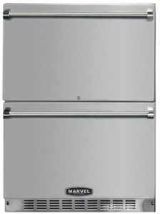 """6ORDESSB Marvel 24"""" Refrigerated Drawer with Dynamic Cooling & Drawer Locks - Stainless Steel"""