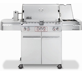 7270001 Weber Summit S-470 Outdoor Gas Grill - Natural Gas - Stainless Steel