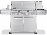 7370001 Weber Summit S-670 Outdoor Gas Grill - Liquid Propane - Stainless Steel