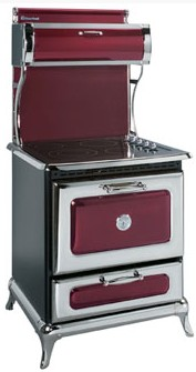 "8210CD0CRN Heartland 30"" Classic Electric Range with 4 High Performance Ribbon Burners - Cranberry"