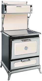 "8210CD0IVY Heartland 30"" Classic Electric Range with 4 High Performance Ribbon Burners - Ivory"