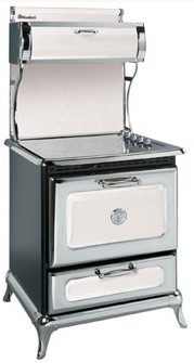 "8210CD0WHT Heartland 30"" Classic Electric Range with 4 High Performance Ribbon Burners - White"
