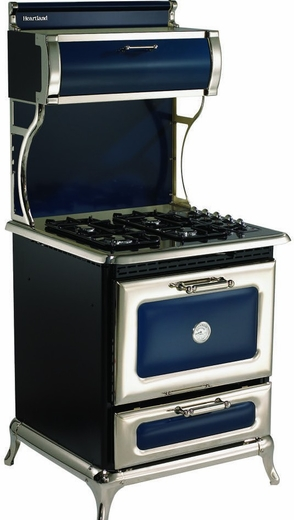 "920000GCBL Heartland 30"" Range with 4 Sealed Burner Cooktop - Natural Gas - Blue"