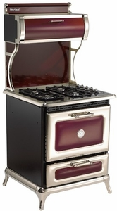 "920000GCRN Heartland 30"" Range with 4 Sealed Burner Cooktop - Natural Gas - Cranberry"