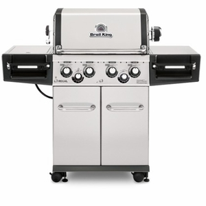 956344 Broil King Regal S490 Pro Outdoor Grill with Warming Rack and Illuminated Control Knobs - Liquid Propane - Stainless Steel