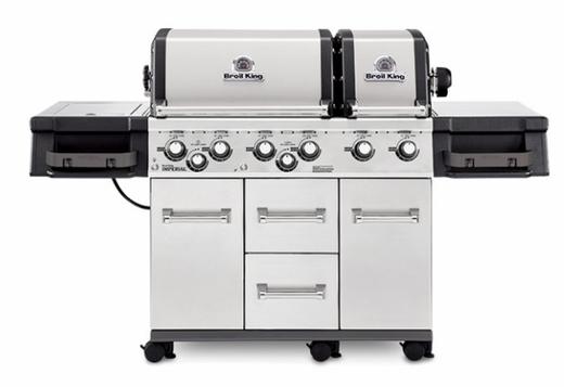 957884 Broil King Imperial XLS Outdoor Grill with Built In Oven and Two Electronic Igniters - Liquid Propane - Stainless Steel