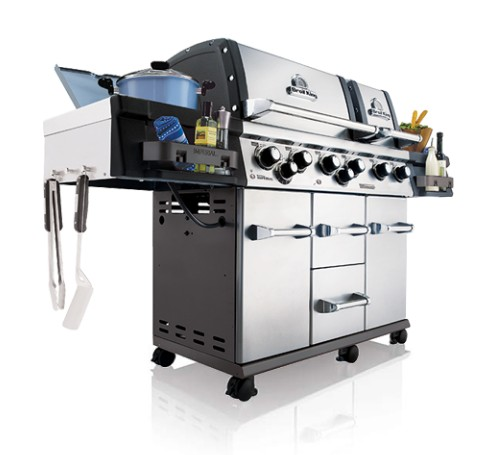 957887 Broil King Imperial XLS Outdoor Grill with Built In Oven and Two Electronic Igniters - Natural Gas - Stainless Steel