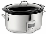99009 All-Clad 6 1/2 Quart Slow Cooker with Black Ceramic Insert