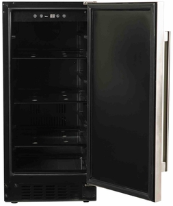 """A115RO Azure 15"""" Undercounter All Refrigerator with Digital Display Control and 4 Glass Shelves - Custom Panel"""