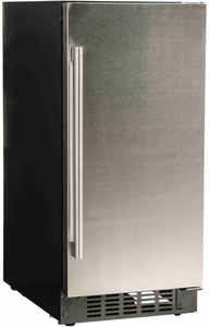 "A115RS Azure 15"" Undercounter All Refrigerator with Digital Display Control and 4 Glass Shelves - Stainless Steel"