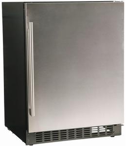 "A124RS Azure 24"" Undercounter All Refrigerator with Digital Display Control and 4 Glass Shelves - Stainless Steel"