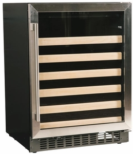 """A124WCS Azure 24"""" 5.1 cu. ft. Undercounter Wine Center with Digital Display Control and 6 Wine Racks - Stainless Steel"""