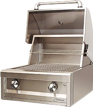 "AAEP26NG Artisan 26"" American Eagle Series Natural Gas Grill with 2 Stainless Steel U-Burners and Push Button Ignition - Stainless Steel"