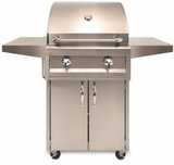 """AAEP26CLP Artisan 26"""" American Eagle Series Liquid Propane Grill and Cart with 2 Stainless Steel U-Burners and Push Button Ignition - Stainless Steel"""