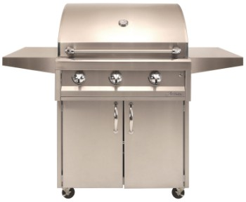 """AAEP32CNG Artisan 32"""" American Eagle Series Natural Gas Grill and Cart with 3 Stainless Steel U-Burners and Push Button Ignition - Stainless Steel"""