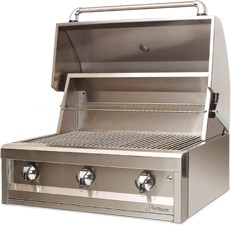 "AAEP32LP Artisan 32"" American Eagle Series Liquid Propane Grill with 3 Stainless Steel U-Burners and Push Button Ignition - Stainless Steel"