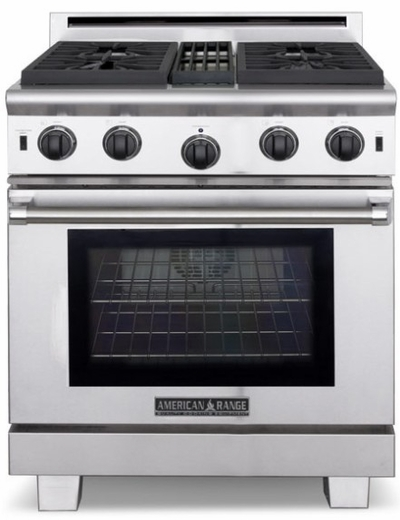 """ARROB-430N American Range Performer 30""""  All Gas Range with (4) Open Burners & 30"""" Innovection Convection Oven - Natural Gas - Stainless Steel"""