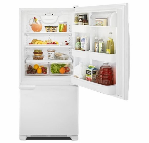 Ft White Bottom Freezer Refrigerator Energy Star Amana ABB1921BRW 18.5 Cu
