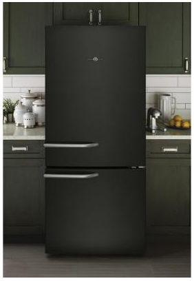 "ABE21DGKWS GE 30"" Freestanding Bottom-Freezer Refrigerator with 20.9 cu. ft. Capacity and LED Lighting - Black"