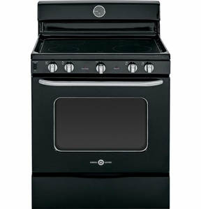 "ABS45DFBS GE Artistry 30"" Free Standing Electric Range with 8"" Power Boil Element - Black"