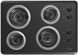 "ACC6340KFB Amana 30"" Electric Cooktop with Chrome Drip Pan - Black"