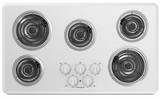 "ACC6356KFW Amana 36"" Electric Cooktop With Chrome Drip Pan - White"