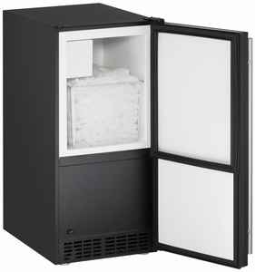 "ADA15IMB-00B U-Line 15"" Wide ADA Series Crescent Ice Maker - Field Reversible - Black"